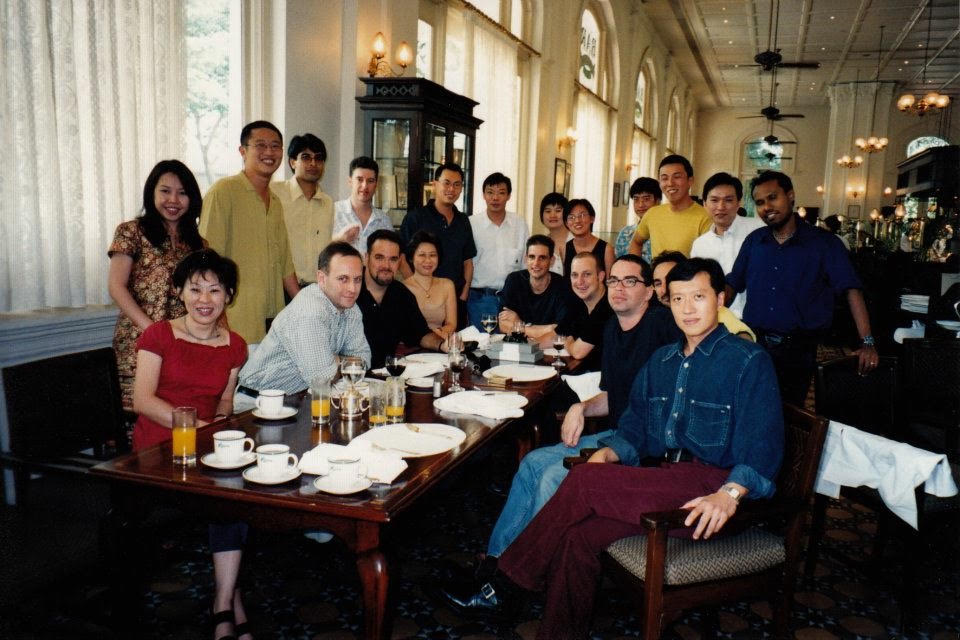 Saatchi & Saatchi Singapore creative department, 1998. Spot Ted! (Hint: he has a goatee)