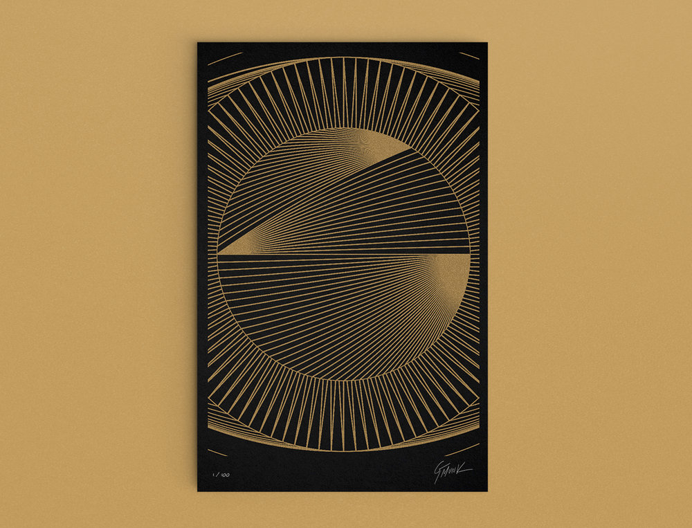 'Mathographics' poster. Design contribution to Anxy Kickstarter campaign by design visionary & WNW Member GMUNK.