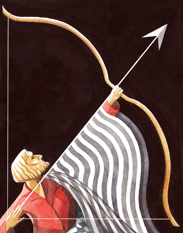 Illustration inspired by the Handspring Puppet Company's production of  Ulysses for  The New Yorker .
