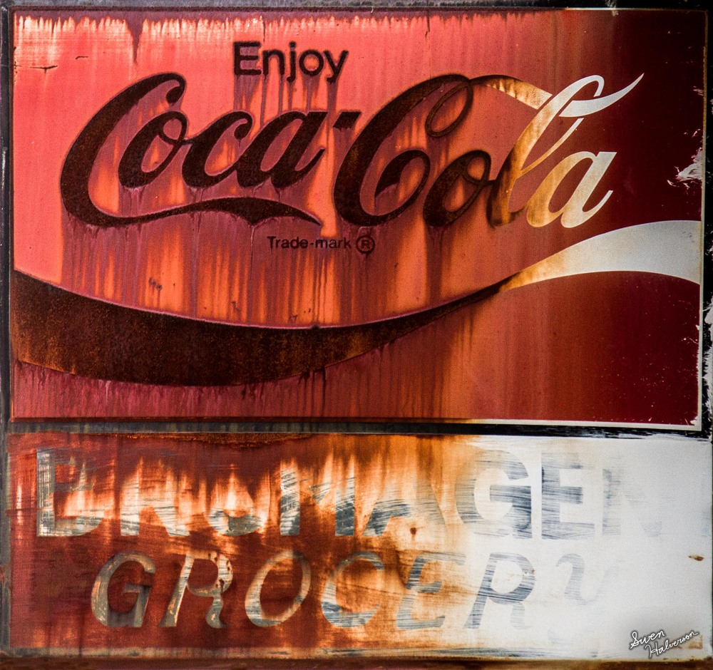 Theme: Faded | Title: Old Coca Cola Sign