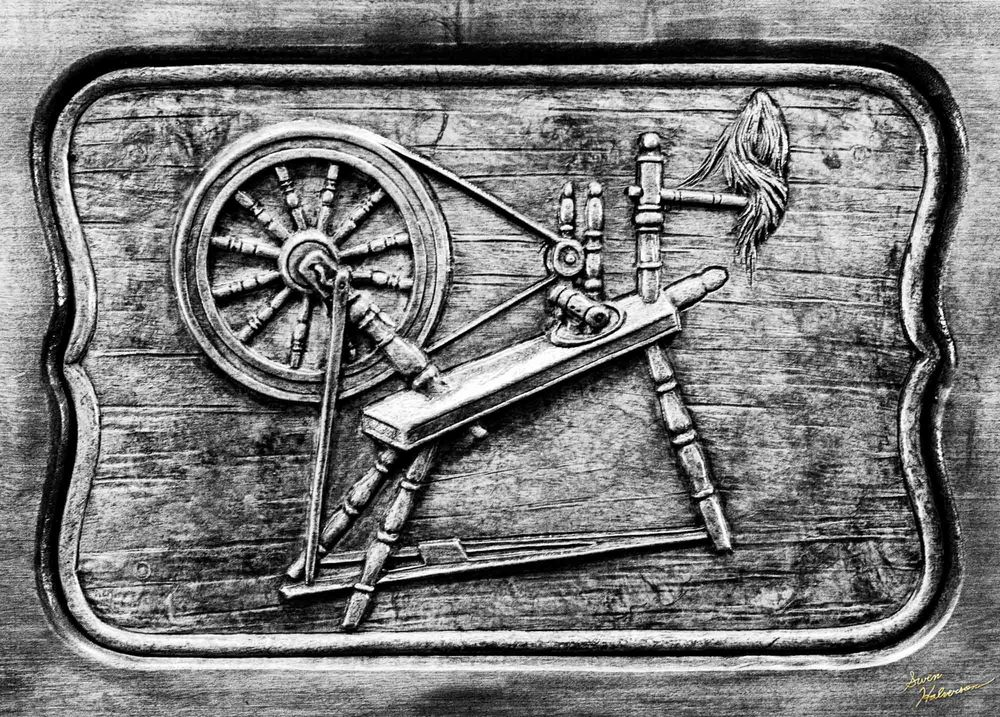 Theme: Grain | Title: Spinner In The Wood Grain