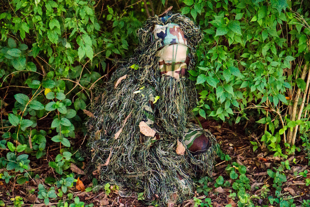 Theme: Stealth | Title: The Ghillie Suit