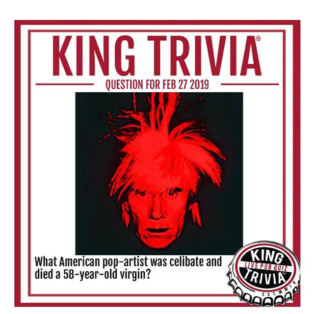 King Trivia @sanfernandobrewingco tonight! 7-9pm. Free to play, all ages welcome.