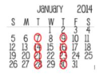 Example Ballroom at School Schedule