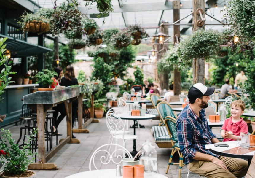 At the top of my list, possibly as it is closest, is The Potting Shed, Sydney, Australia ( image via  Broadsheet  )