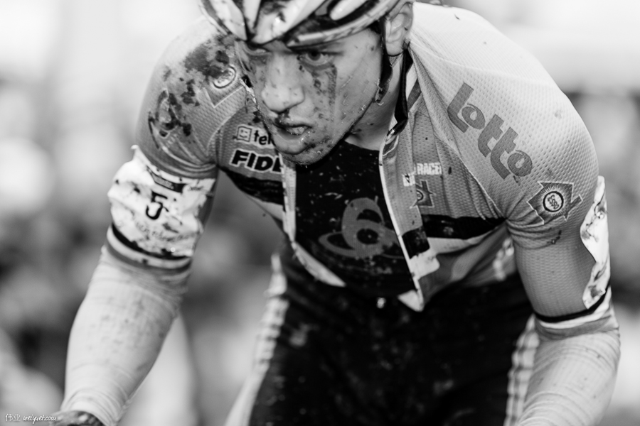 Was told that Tom Meeusen (BEL) has one of the most distinctive game-faces in cyclocross.