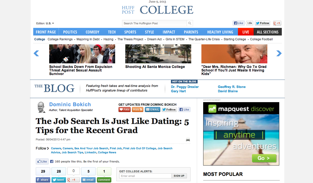Why dating is just like job searching