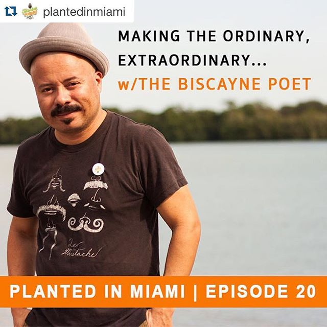 #Repost @plantedinmiami ・・・ For Oscar Fuentes, a.k.a. @thebiscaynepoet, Miami has served as a beautiful, motivating inspiration. His love of jazz and poetry were intensified after a brief stint in New York but Miami with all of it's passion, culture and mystery was the muse he needed to fully expand his art.  He's commonly seen at events with one of his 11 typewriters creating poems on the spot or performing beat poetry with latin jazz group, The Oscar Fuentes Combo. We talk about how he overcomes his vulnerabilities to courageously share his work, what's the deal behind his signature look and why Miami's culture is richer than we believe.  We hope you enjoy the convo.  Listen on iTunes or Stitcher or at www.plantedinmiami.com. #plantedinmiami