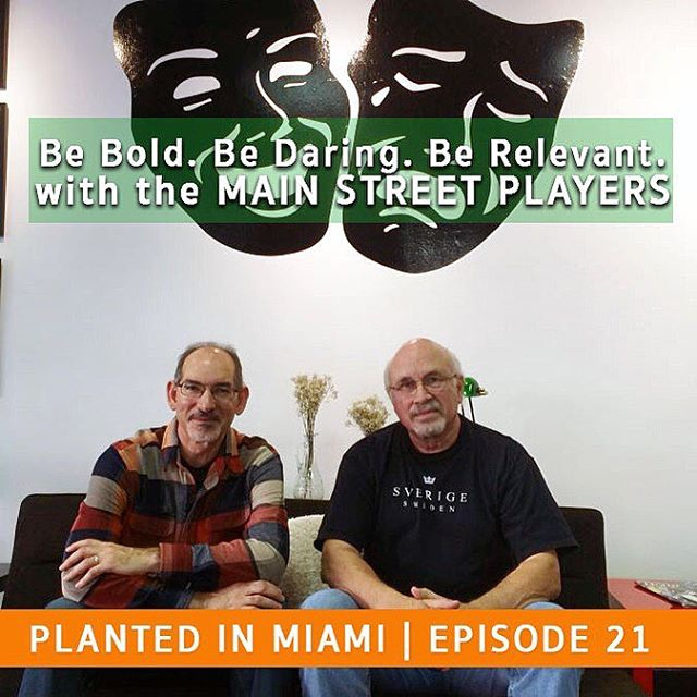 Repost: @plantedinmiami Bold. Be Daring. Be Relevant. Maybe this is a phrase you would expect to hear from a cutting edge sports apparel line or from some new age inspirational Guru; but not from a small, local community theatre. But the Main Street Players is just that.  As they prepare to kick off their 2016 season, we sit down with Robert Coppel and Dennis Lyzniak, the Artistic Director and Playhouse Manager, respectively, and talk about how they got started in the theatre business as well as the impact theatre can have in our lives and our community and everything in between.  The Main Street Players Community Theatre is a hidden gem located in the quaint town of Miami Lakes. For as little as $25 per show, you can watch Pulitzer Prize winning plays for a fraction of the cost of the big, professional theatre's while simultaneously supporting small business and up-and-coming actors. Their season opens with the award winning play, Water by the Spoonful, by Quiara Algería Hudes, directed by Robert Coppel and continues with Stage Kiss, Songs for a New World, and closes with another Pulitzer Prize winning play, Clybourne Park.  Their commitment to this challenging but cathartic art form is apparent when they speak and they live up to their motto: Be bold, be daring, be relevant.  We hope you enjoy the interview.