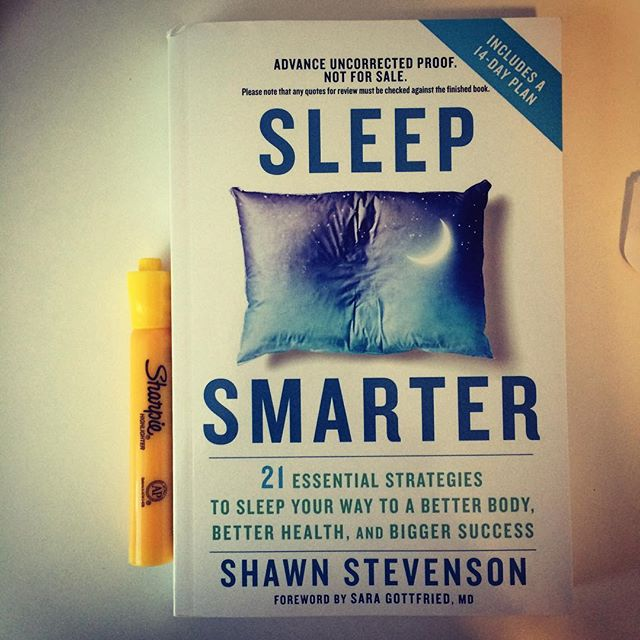So excited to dive into the updated Sleep Smarter book by @shawnmodel. My original copy is all marked up.😝