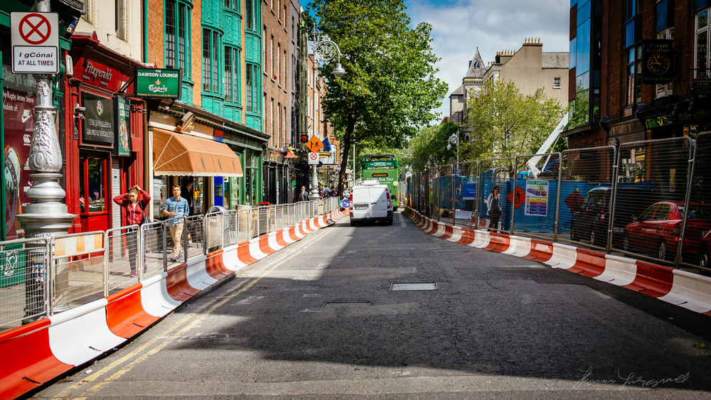 Road Works on Dublin's Dawson Street