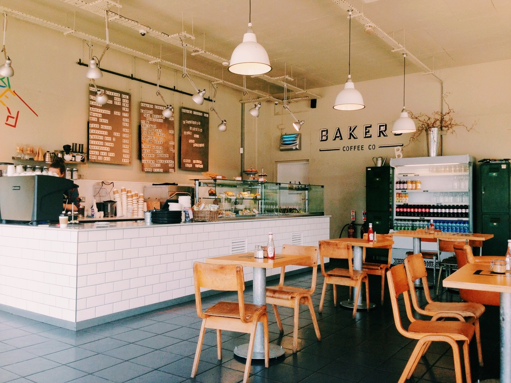 I stopped to have coffee in this gorgeous little cafe, called Baker Coffee Co.