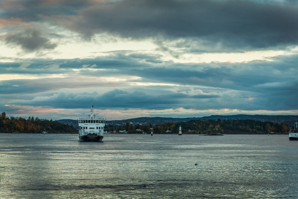 Ferry Docking in Oslo