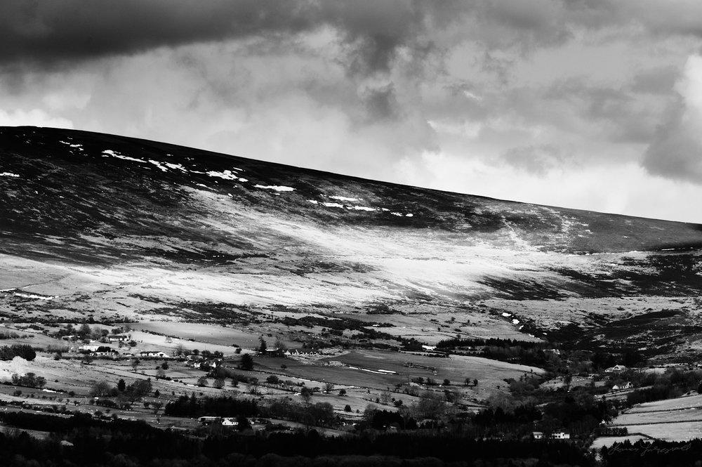The hills over Blessington Reservoir
