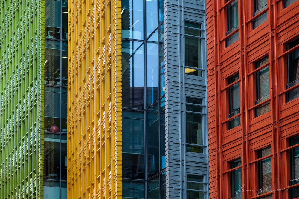 Multicoloured buildings in London