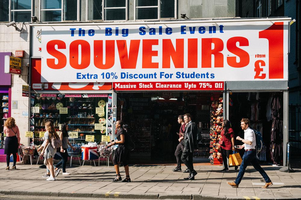 Souvenir Shop on London's Oxford Street