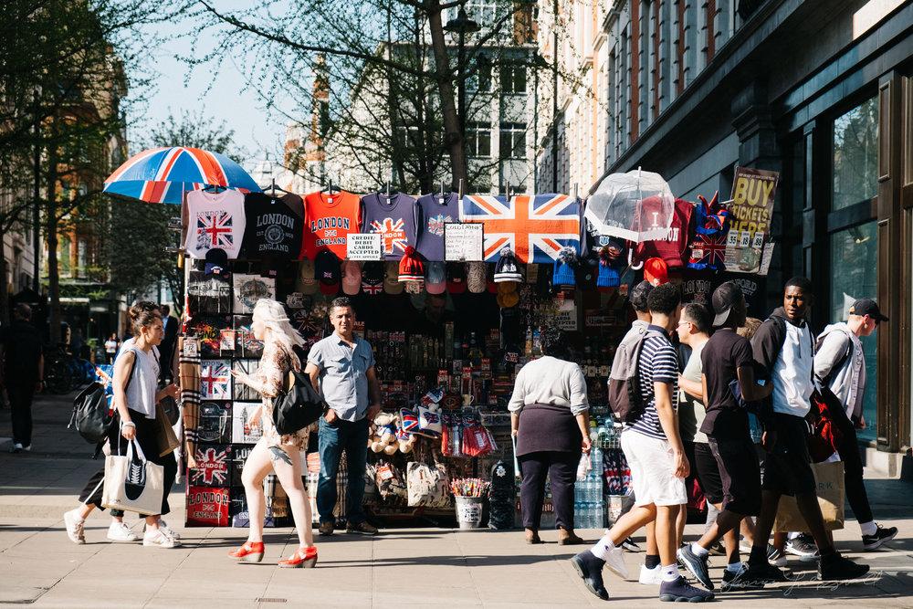 Souvenir Stand on London's Oxford Street