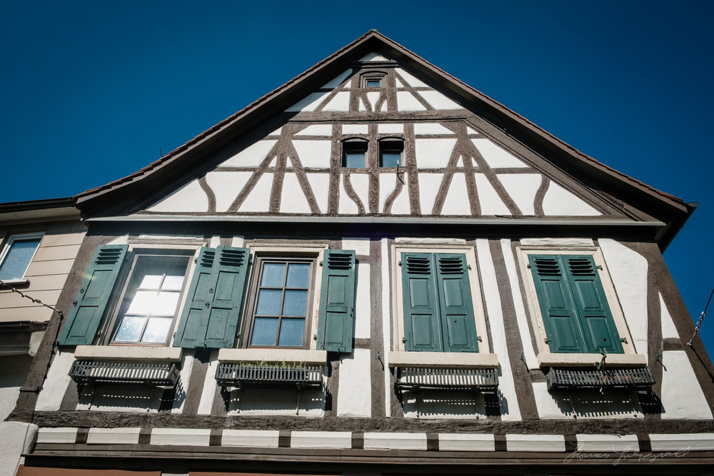 A medieval building in Heppenheim, Germany