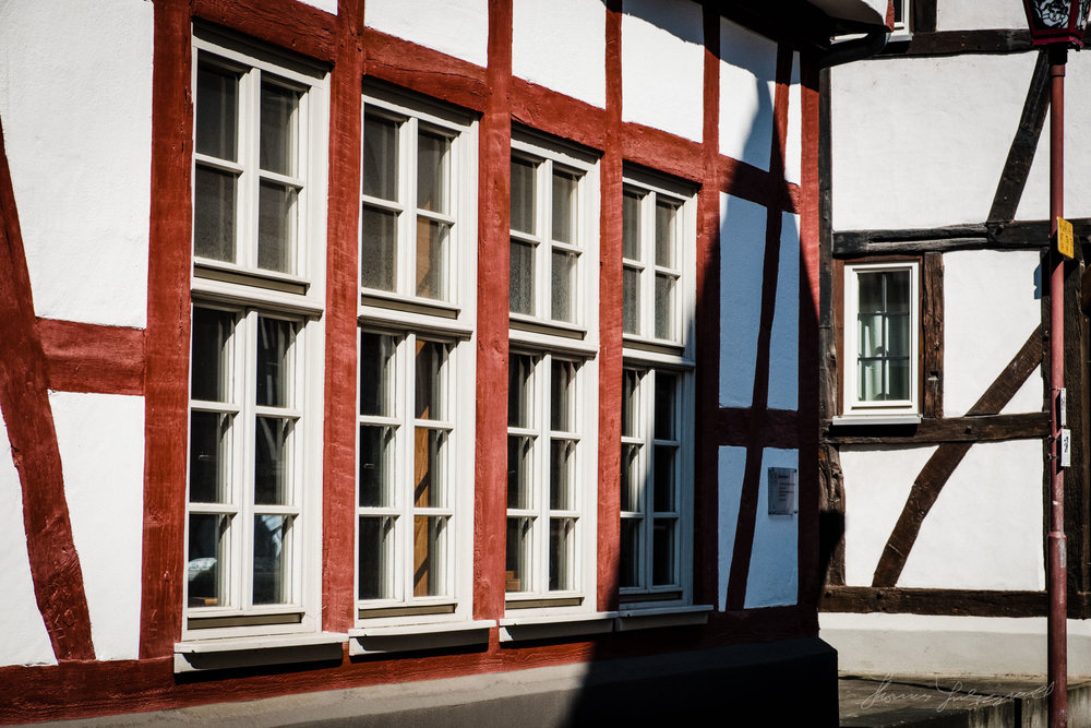 Medieval buildings of Heppenheim, Germany