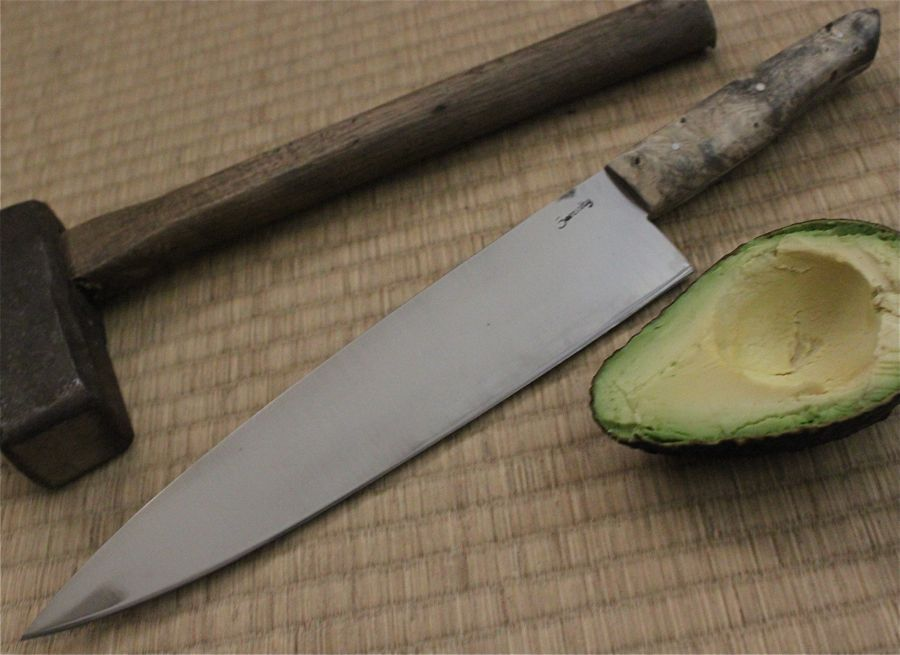 "My brother's Chef Knife in 13C26 Stainless Steel with 9 1/2"" long with a 5"" handle."