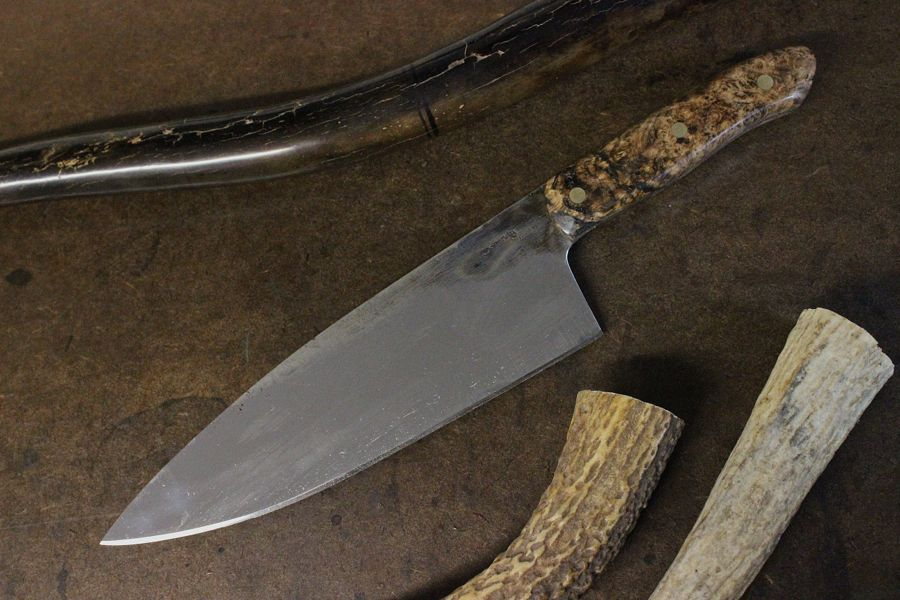 European Chef with Black Ash Burl Handle.