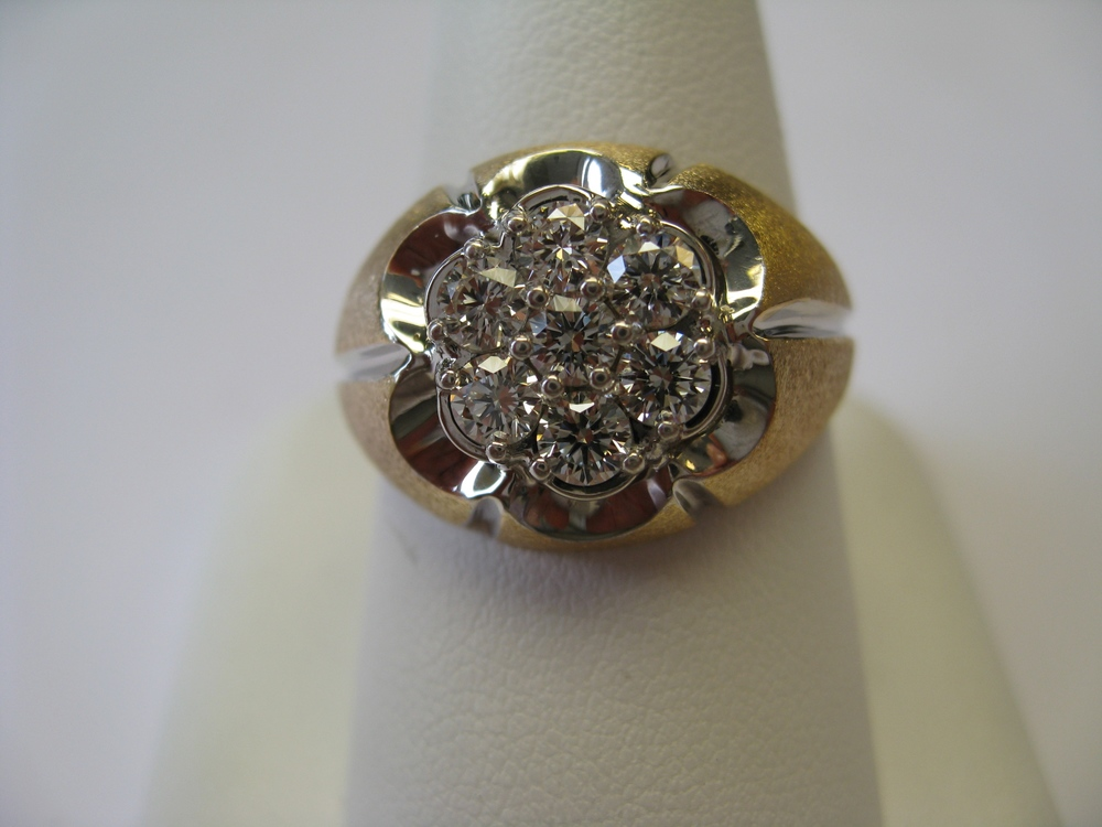 Men's ring with diamonds