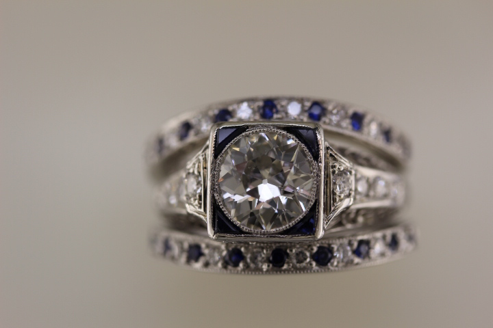 adding custom bands to an heirloom engagement ring