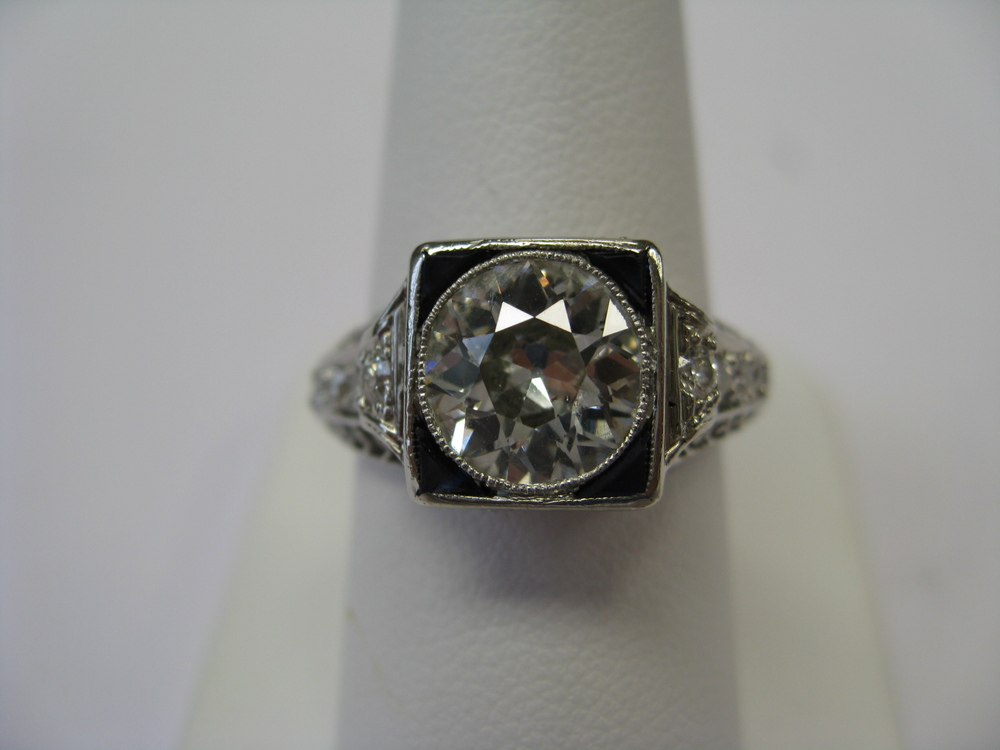 Heirloom Ring Before Custom Wedding Bands