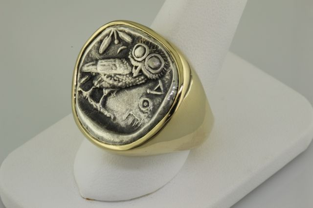 Finished tetradrachm ring