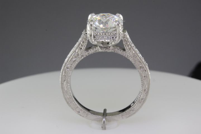 Modern custom made engagement ring