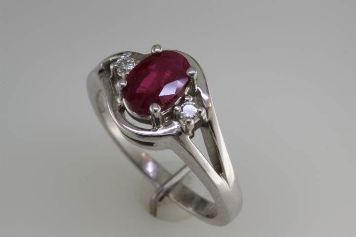 Ruby ring made at Richard Dolgin