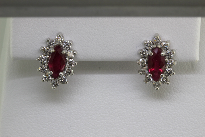 Ruby earrings made at Richard Dolgin