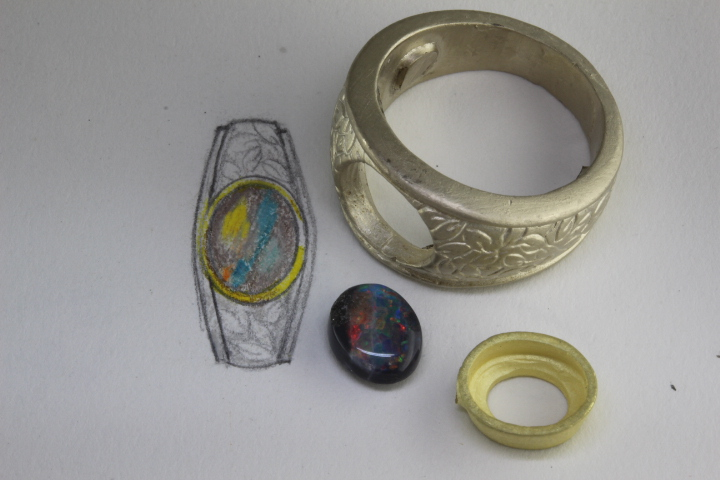 Original design and cast ring parts