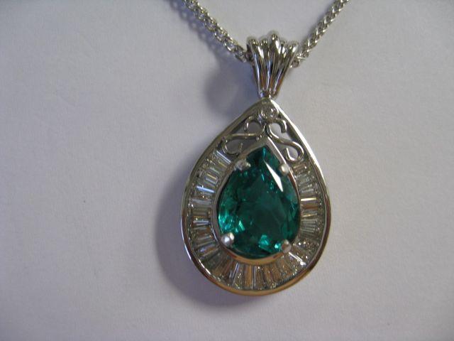Finished Emerald Pendant