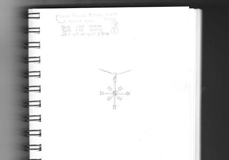 Rendering of client's pendant design.