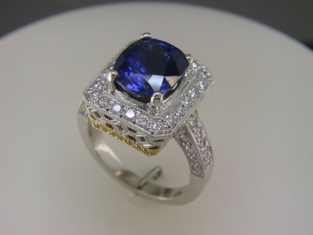 Custom made oval Sapphire ring