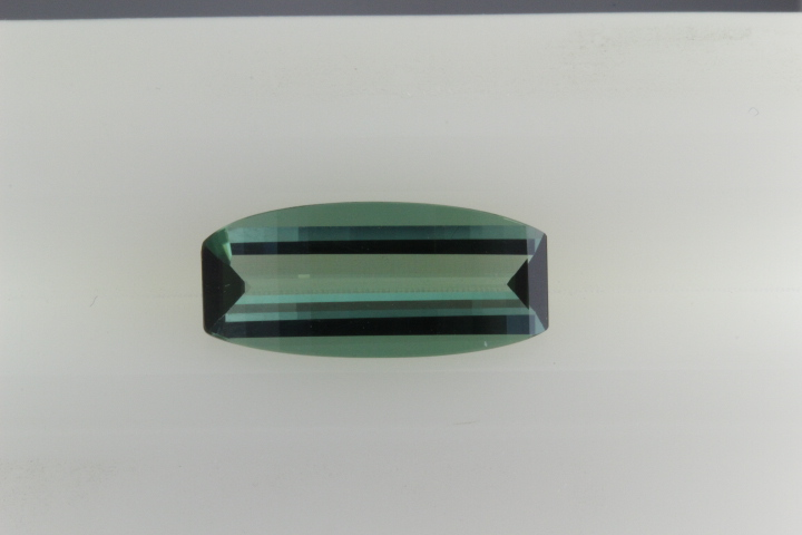 Stair cut green tourmaline weighing 2.62 carats