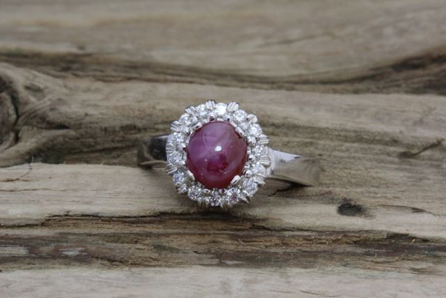 Genuine Star Ruby Ring