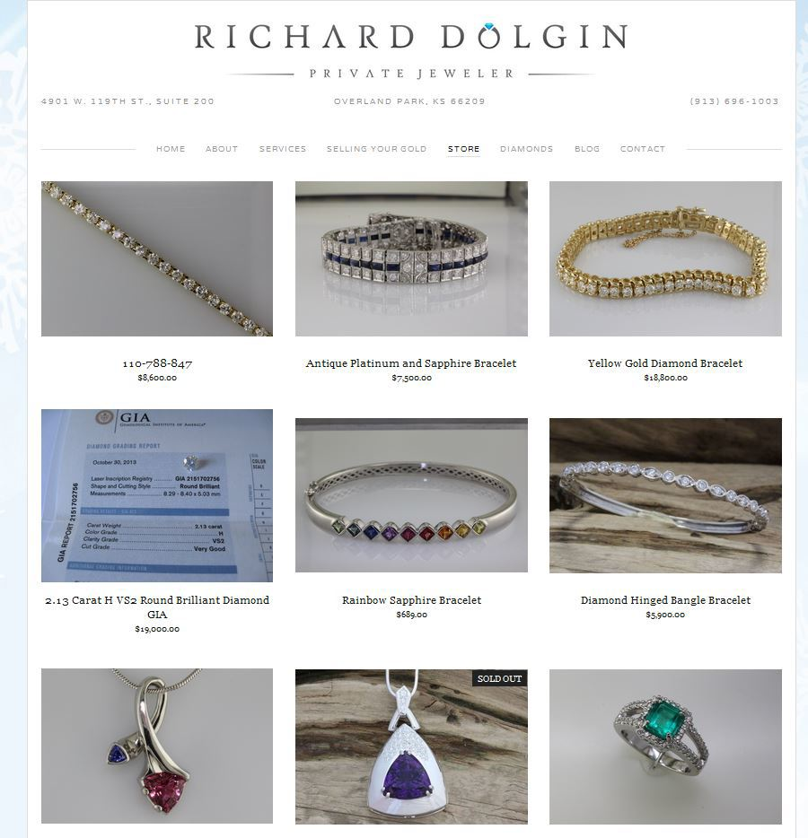 Online Shopping at Richard Dolgin Private Jeweler