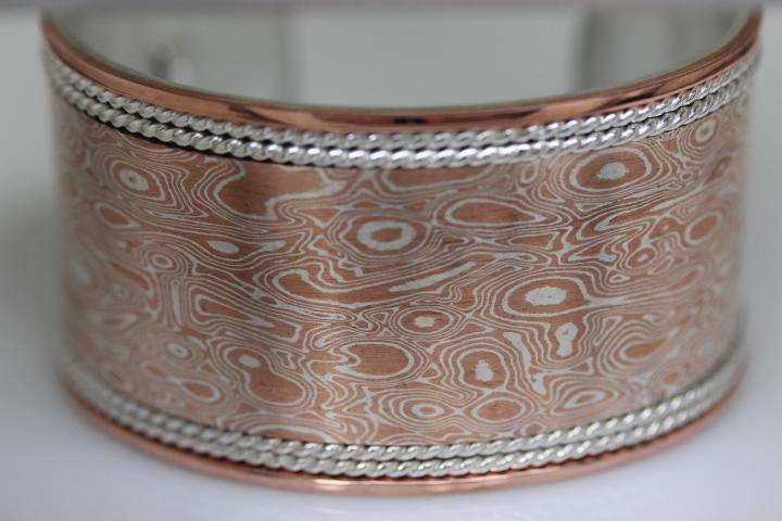 Mokume Bangle Bracelet