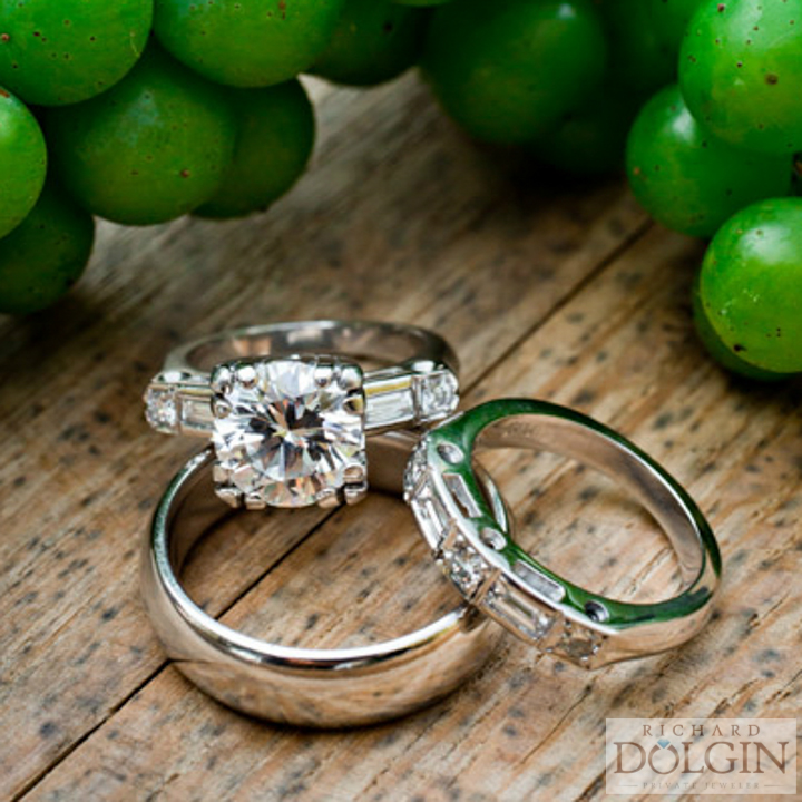 Vintage design engagement ring