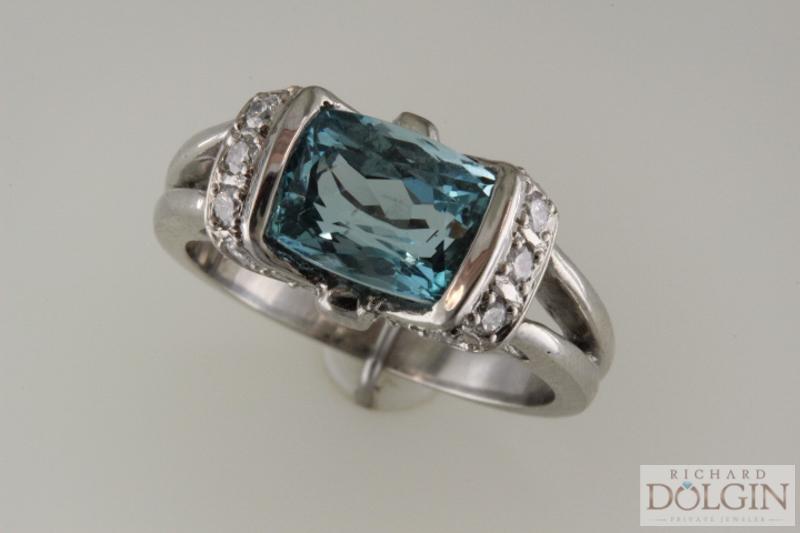 Aquamarine custom ring