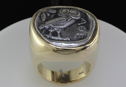 Drachma ring - top view