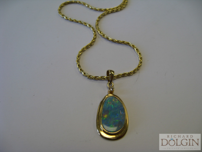 Custom made opal pendant