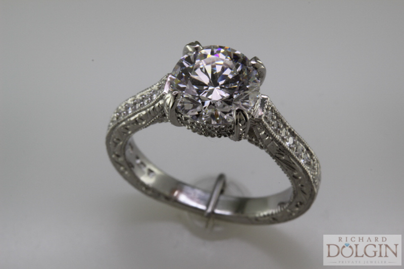 Top view - Engagement ring
