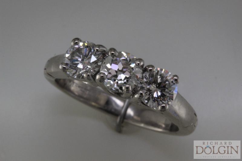 New 3 stone ring