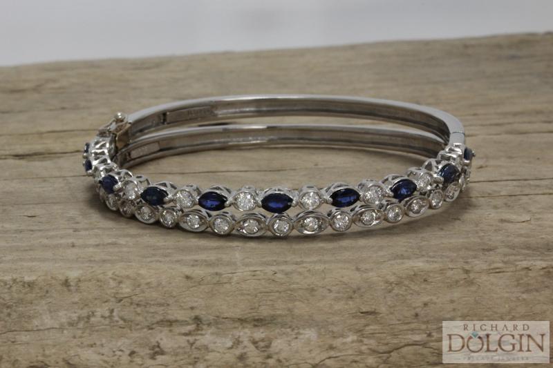 Diamond and sapphire bracelets