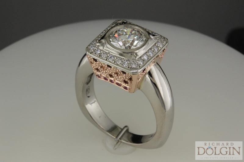 Custom crafted diamond ring