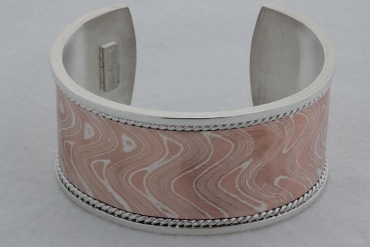 Mokume Gane bangle bracelet