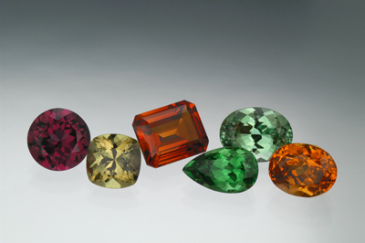 Garnets in all colors.
